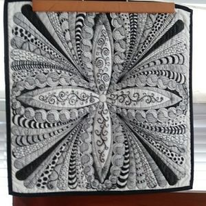 Quilted Wall Hanging Zendoodled Art